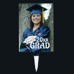 """Congrats Grad in White Cake Topper<br><div class=""""desc"""">Top your graduate&#39;s cake/dessert item with this personalized cake topper featuring their graduation or senior photo. ALTERATIONS/ADDITIONS: Click on the CUSTOMIZE or CHANGE button to alter your image size or use the """"Crop"""" tool to change the image dimensions. Click on the """"Add Text"""" button to add graduate&#39;s name and select...</div>"""