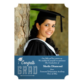 Congrats Grad Photo Graduation Announcement