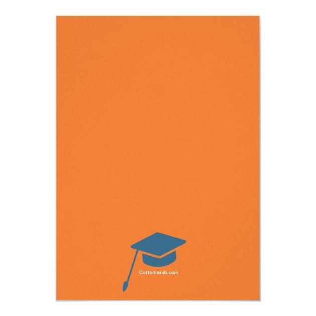 Congrats Grad Photo Graduation Announcement (back side)