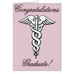 Congrats, graduado, campo médico felicitación