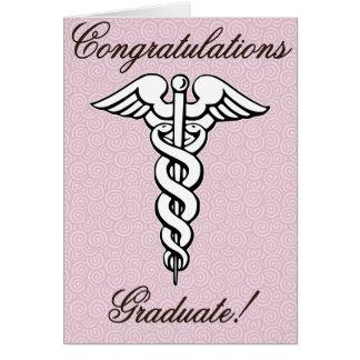 Congrats graduado campo médico felicitación