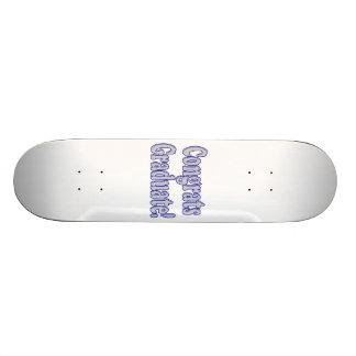 Congrats Graduate Blue & Silver Skateboard Deck