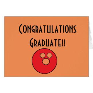congrats graduate bowling card