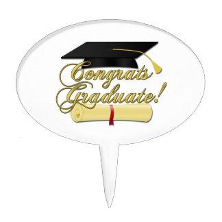 Congrats Graduate Diploma and Graduation hat Cake Topper