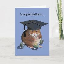 Congrats Graduate: Hamster: All Marbles Intact Card