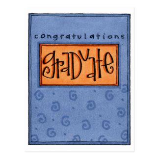 congrats graduate postcard