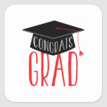 Congrats Graduate Square Sticker
