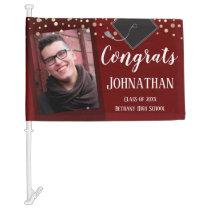 Congrats Graduation Class of 2020 Photo Car Flag