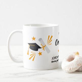 Congrats Graduation Grad Cap Grad Name Class 2018 Coffee Mug
