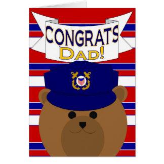 Congrats - guardacostas - papá/padre tarjeta de felicitación