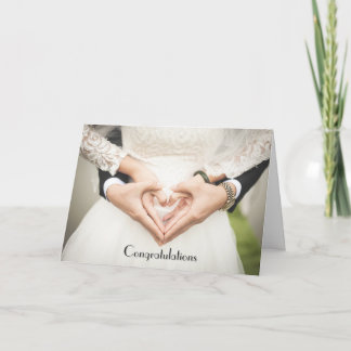 Congrats Hearts in Hands Card