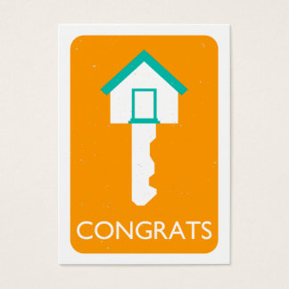 congrats home key referral business card
