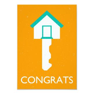 congrats house key card