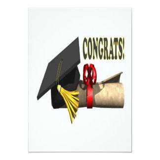 Congrats 5x7 Paper Invitation Card