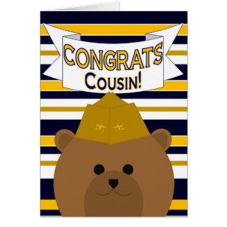 Congrats Naval Aviator Cousin Card