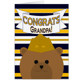 Congrats Naval Aviator Grandpa Card
