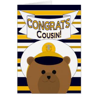 Congrats - Navy Cousin Card