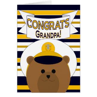 Congrats - Navy Grandpa / Grandfather Card