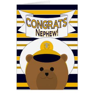Congrats - Navy Nephew Card
