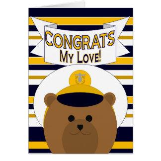 Congrats - Navy Officer - My Love! / Boyfriend Card