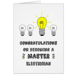 Congrats on Becoming a Master Electrician Card