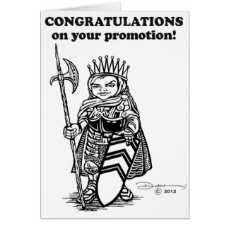 Congrats on Promotion Card