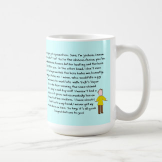 Congrats on Promotion Story Art (Male) Mug