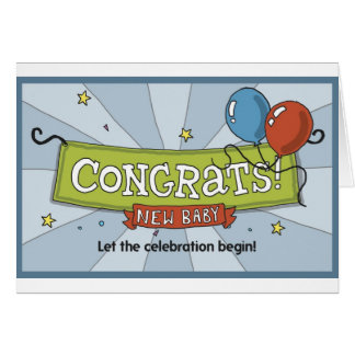 Congrats on the new baby! card