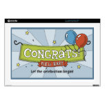"""Congrats on the new baby! decal for 17"""" laptop"""