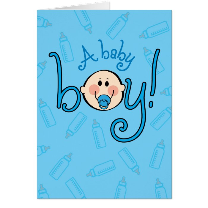 Cards And Congratulations Newborn Baby Boy Greeting Card