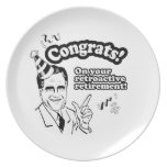 CONGRATS ON YOUR RETROACTIVE RETIREMENT DINNER PLATE