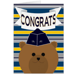 ¡Congrats para su oficial de fuerza aérea Tarjeta De Felicitación