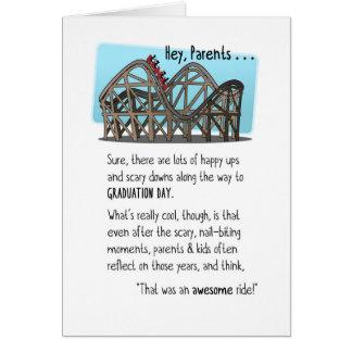 Congrats Parents-Graduation-Roller Coaster Ride Greeting Card
