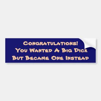 ¡Congrats! Pegatina Para Auto