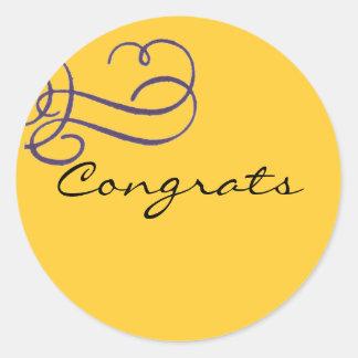 Congrats Pegatina Redonda