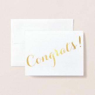 Congrats Script Foil Card