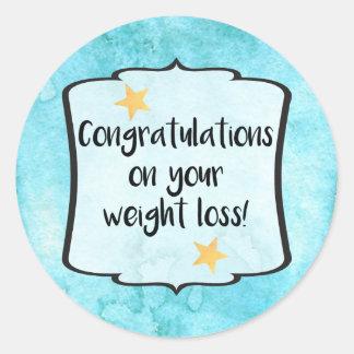 Congrats Slimming Group Diet Motivation Planner Classic Round Sticker