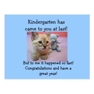 congrats to Kindergartener. Post Card