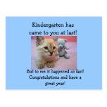 congrats to Kindergartener. Postcard