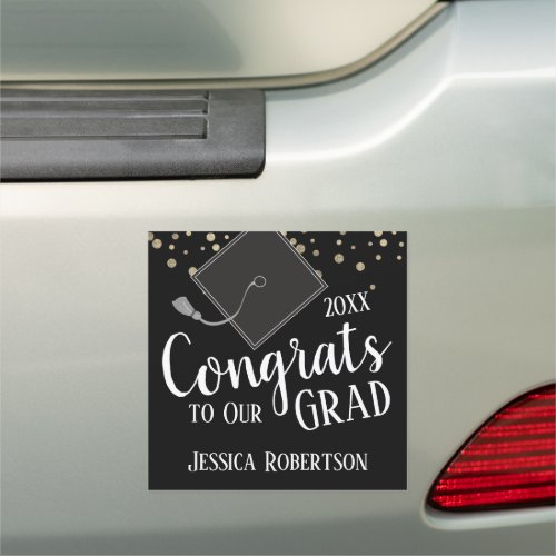 Congrats to Our Grad Class of 2020 Black Car Magnet