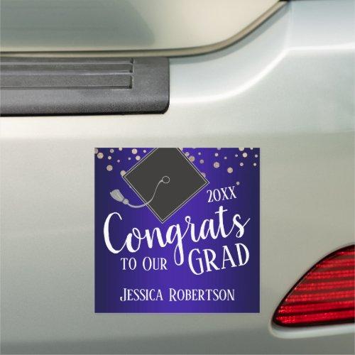 Congrats to Our Grad Class of 2020 Blue Car Magnet