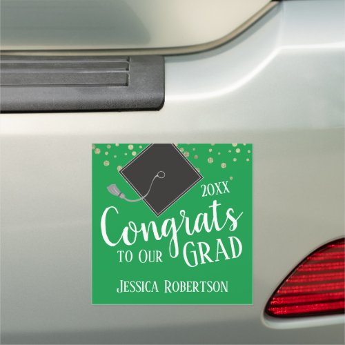 Congrats to Our Grad Class of 2020 green Car Magnet