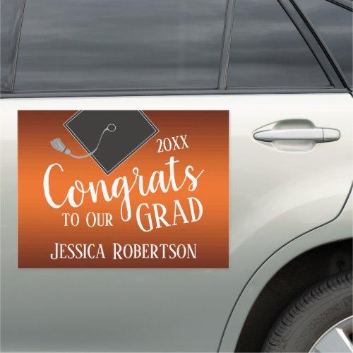 Congrats to Our Grad Class of 2020 Orange Car Magnet