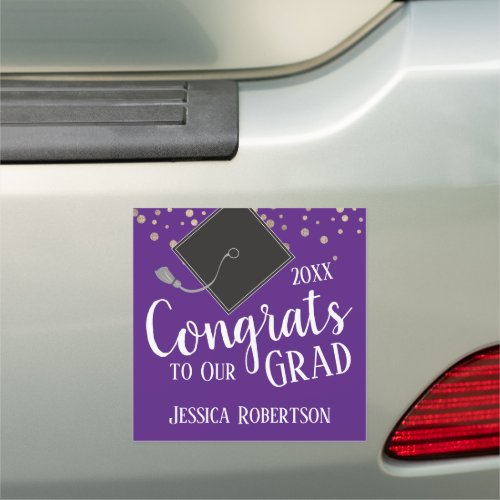 Congrats to Our Grad Class of 2020 purple Car Magnet