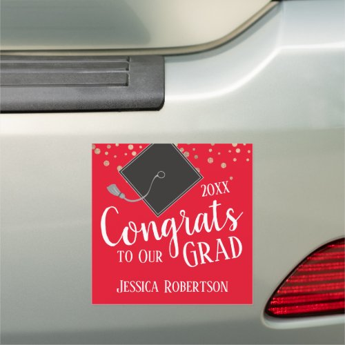 Congrats to Our Grad Class of 2020 Red Car Magnet