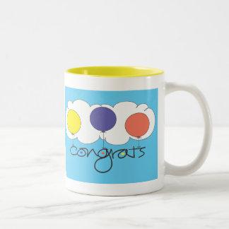 Congrats Two-Tone Coffee Mug