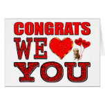 Congrats We Love You Greeting Cards