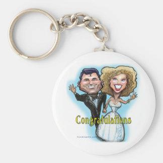 Congrats Wedding Dolls Key Chain