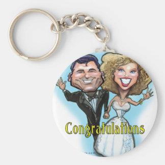 Congrats Wedding Dolls Key Chains