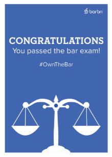Passing exam congratulations cards zazzle congrats you passed the bar exam greeting card m4hsunfo